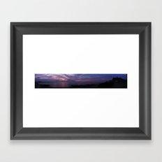Narragansett, RI. Panoramic (Dawn) Framed Art Print