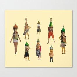 architectural pedestrians Canvas Print