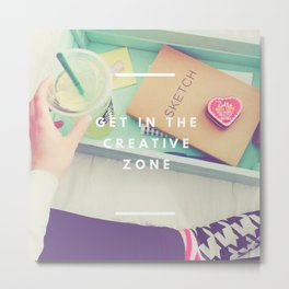 Creative Zone Metal Print