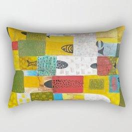 Red and Yellow Rectangular Pillow