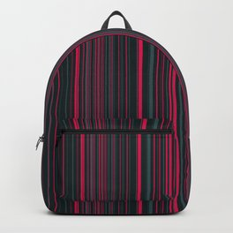 Pink Grey Candy Lines Backpack