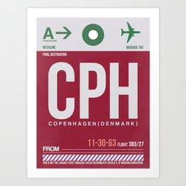 CPH Copenhagen Luggage Tag 2 Art Print