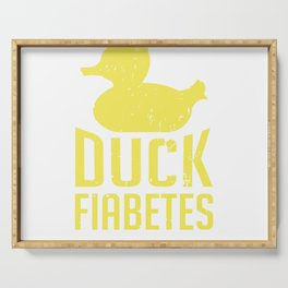 Diabetes Insulin Duck Fiabetes Diabetic Serving Tray