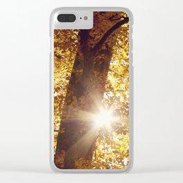 sun in fall Clear iPhone Case