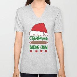 Cute Christmas Baking Crew Unisex V-Neck