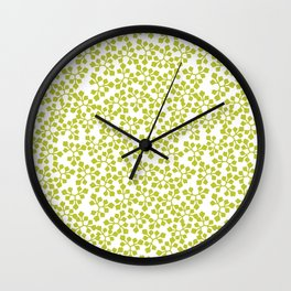 Leaves .lime Wall Clock