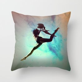 Ballet Dancer Feat Lady Dreams Abstract Art Throw Pillow