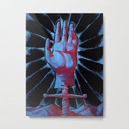 Ace of Swords Tarot Card Metal Print