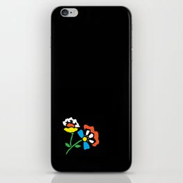 Cutout Flowers on Black iPhone Skin