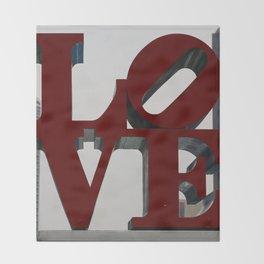 Love Philadelphia Sculpture Throw Blanket
