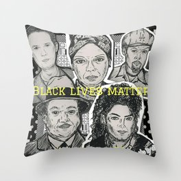 (Human Rights - Black Lives Matter) - yks by ofs珊 Throw Pillow