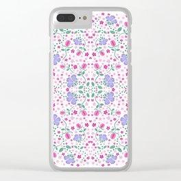 Purple Floral Clear iPhone Case