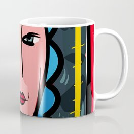 Fauve Girl Portrait with blue hair Coffee Mug