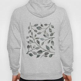 Monochrome Leaves Hoody