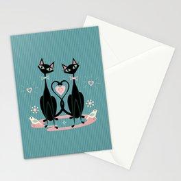 Vintage Kitty Love ©studioxtine Stationery Cards