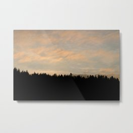Forest Silhouette Metal Print
