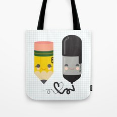 Pencil and Sharpie Buds Tote Bag