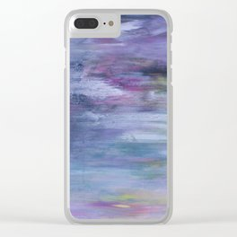 Hazy landscape Clear iPhone Case