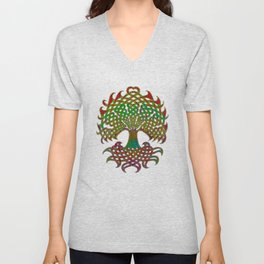 Celtic Knot Tree of Life Unisex V-Neck