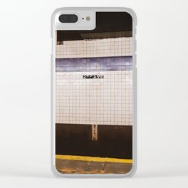 East Village Subway Clear iPhone Case