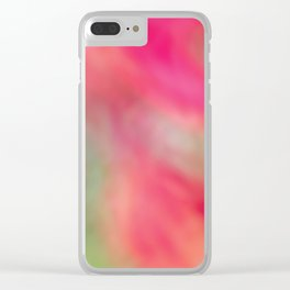 Pink Flower Dreaming Clear iPhone Case