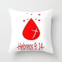 Hebreos 9:14 Throw Pillow