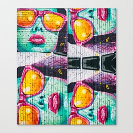 Graffiti Wall Women Canvas Print