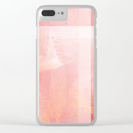 Living Coral - Digital Grunge Abstract Clear iPhone Case