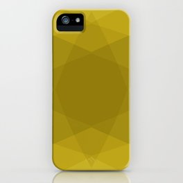 Abstract geometric star shape yellow shades iPhone Case