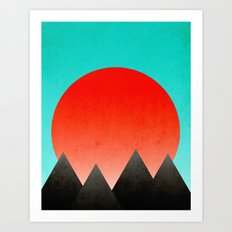 Blood Orange Sunset Art Print