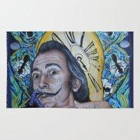 dali Area & Throw Rugs featuring Dali  by Magdalena Almero