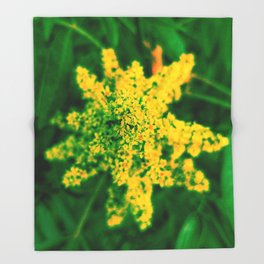 Yellow Sumac Bloom Throw Blanket