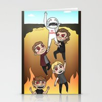 cyrilliart Stationery Cards featuring Drag Me Down To Hell by Cyrilliart