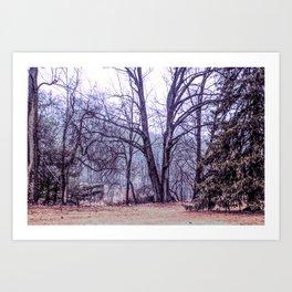 Landscape at Old Kennett Meetinghouse Art Print