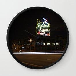 White Stag/Made in Oregon/Portland, Oregon Wall Clock