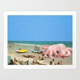 Squid Beach Art Print