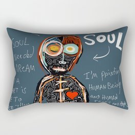 Heart and Soul street art graffiti art brut painting Rectangular Pillow