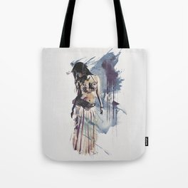 Bellydancer Abstract Tote Bag