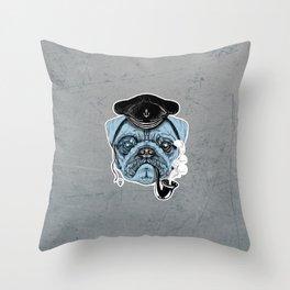 Sailor Pug Throw Pillow