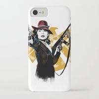 agent carter iPhone & iPod Cases featuring Agent Peggy Carter by PawixZkid