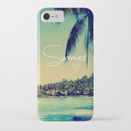 Summer Love Vintage Beach iPhone Case