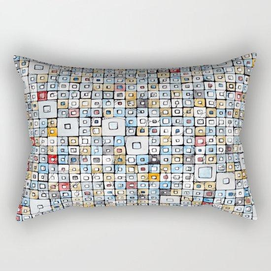 Grid#01 Rectangular Pillow