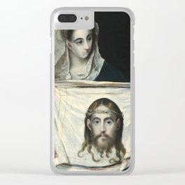 """El Greco (Domenikos Theotokopoulos) """"Saint Veronica"""" Clear iPhone Case"""