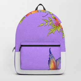 Spring Flowers and Butterfly Posy Backpack
