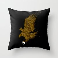 hunting Throw Pillows featuring Hunting by Flying Mouse 365