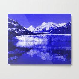 Glacier Bay Blue Metal Print