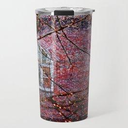 Brick Exterior with Lights Travel Mug