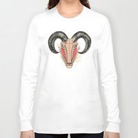 aries Long Sleeve T-shirts featuring Aries by Vibeke Koehler