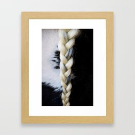 Equine Braid Framed Art Print