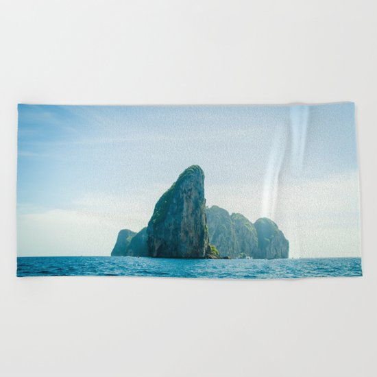 Far Places Beach Towel